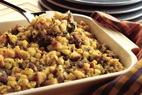 Corn and Sausage Stuffing