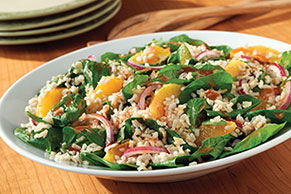 Citrus Spinach & Rice Salad