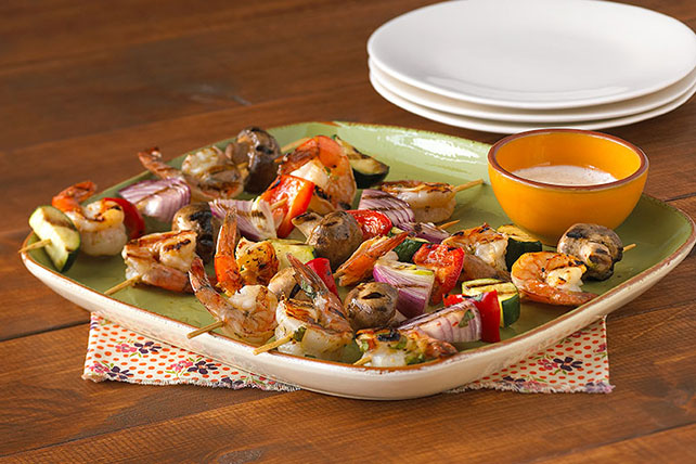 Zesty Shrimp and Vegetable Kabobs Image 1