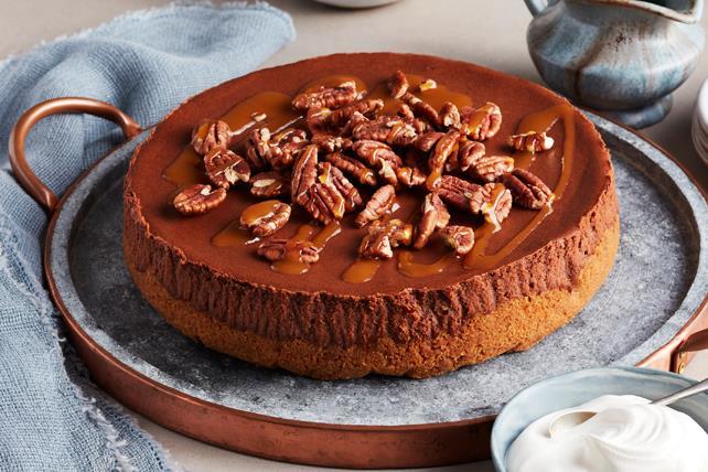 Gâteau au fromage au chocolat et au caramel Image 1