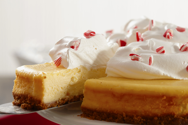 White Chocolate-Candy Cane Cheesecake Image 1