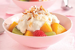 Snow-Capped Rocky Mountain Fruit Dessert