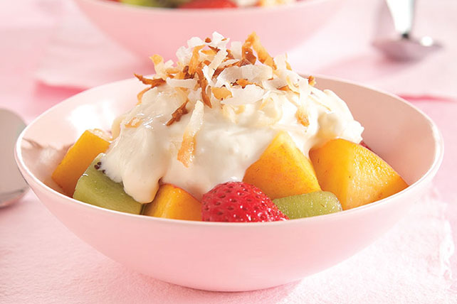 Snow-Capped Rocky Mountain Fruit Dessert Image 1