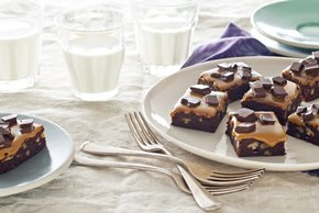 Chocolate Bliss-Caramel Brownies