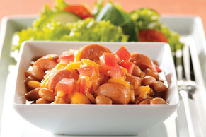 BBQ Dogs and Beans