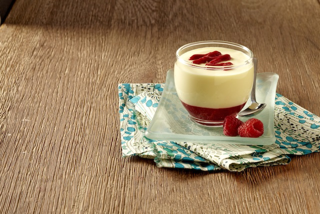 Delightful Lemon Mousse with Raspberry Sauce Image 1