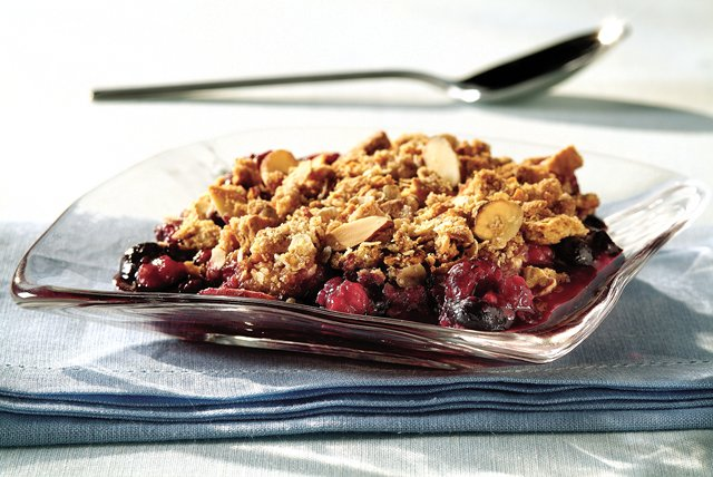 Strawberry, Raspberry & Blueberry Crisp