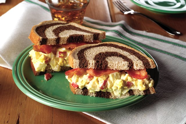 Zippy Bacon-Egg Salad Sandwiches