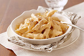 Pasta with Creamy Pumpkin Sauce