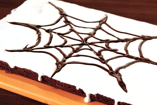 BAKER'S® ONE BOWL Spider Web Brownies Image 1