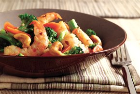 Gingered Shrimp with Cashews