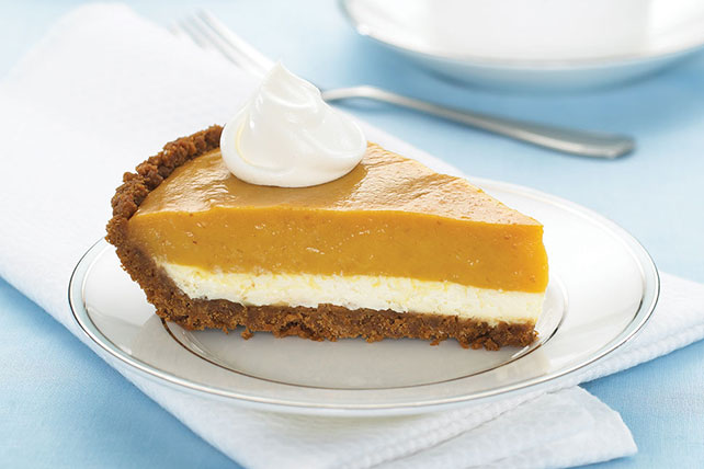 Double-Layer Pumpkin Pie - Kraft Recipes