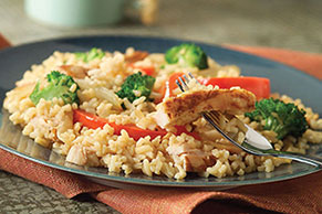 20-Minute Chicken & Rice Stir-Fry Dinner