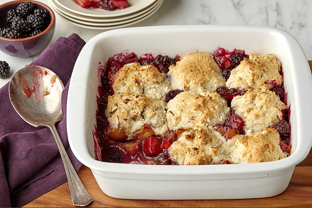 Blackberry-Plum Cobbler Image 1
