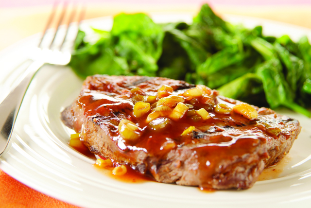 Chili-Beer Glazed Steaks Image 1