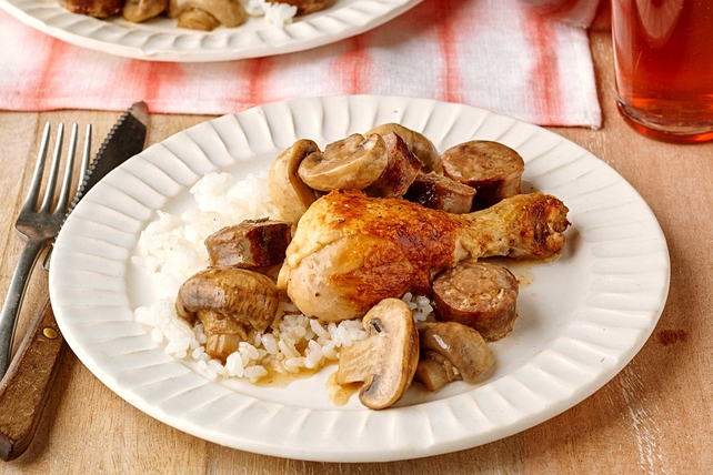Mediterranean Chicken and Sausage Recipe Image 1