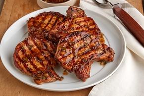 Cilantro-BBQ Grilled Pork Chops