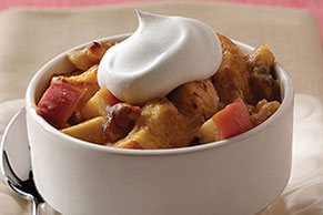 Apple Walnut Bread Pudding