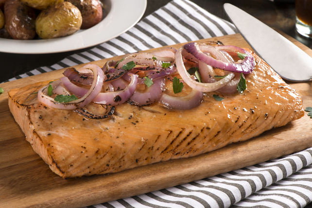 Cedar-Planked Maple-Glazed Salmon Image 1