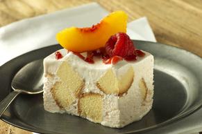 Frozen Peach Shortcake Squares