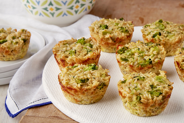 Broccoli and Cheese Rice Cups Image 1