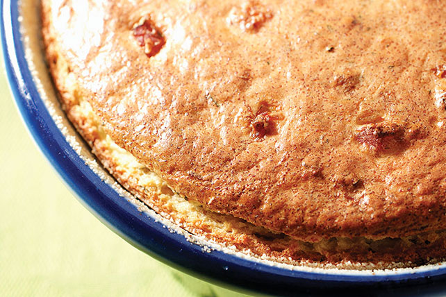 Ham and Feta Cheese Souffle
