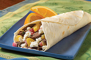 Mediterranean Grilled Steak Wraps