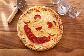 Happy Face Pizza