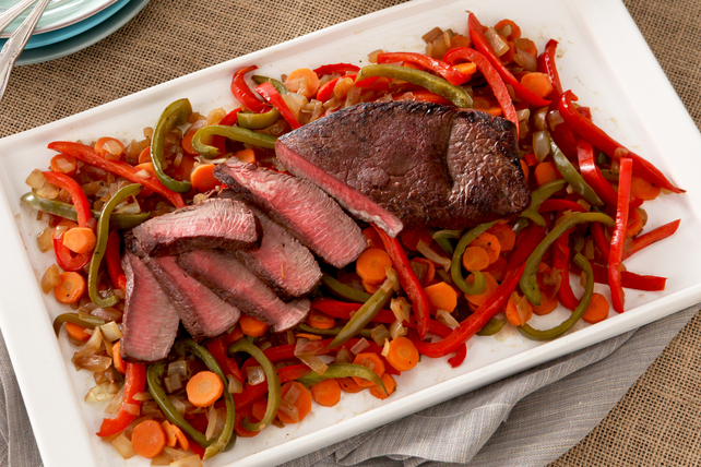 Balsamic Pan-Roasted Beef and Pepper Dinner Image 1