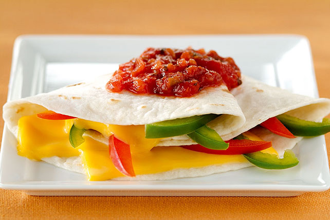 Cheesy Vegetable Quesadillas Image 1