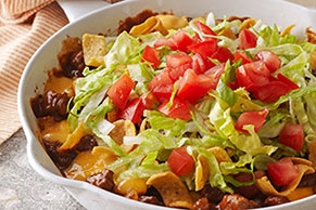 Cheesy Beef-Corn Chip Skillet