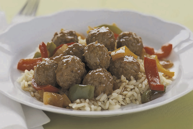 Sweet-and-Sour Meatball Simmer Image 1