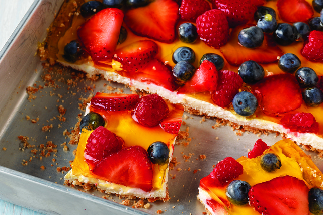 Triple-Berry Cheesecake Squares Image 1