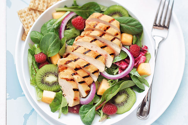 Grilled Chicken and Fruit Salad Image 1