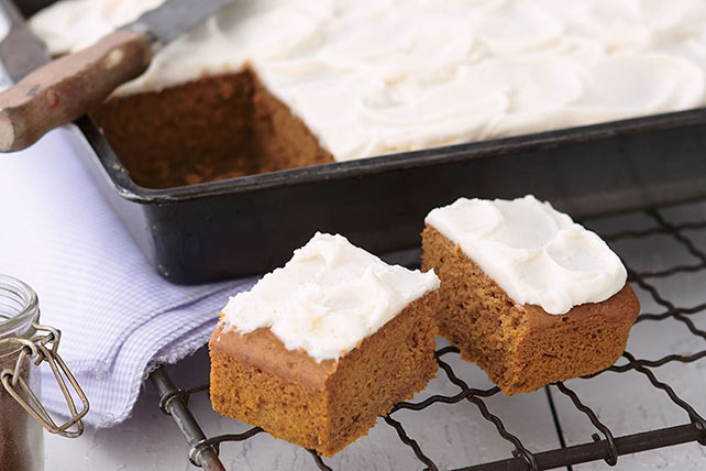 Frosted Pumpkin Snack Bars