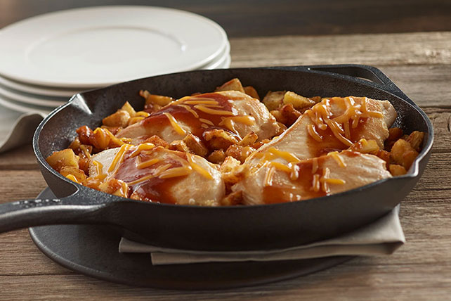 One-Skillet BBQ Chicken & Potato Dinner