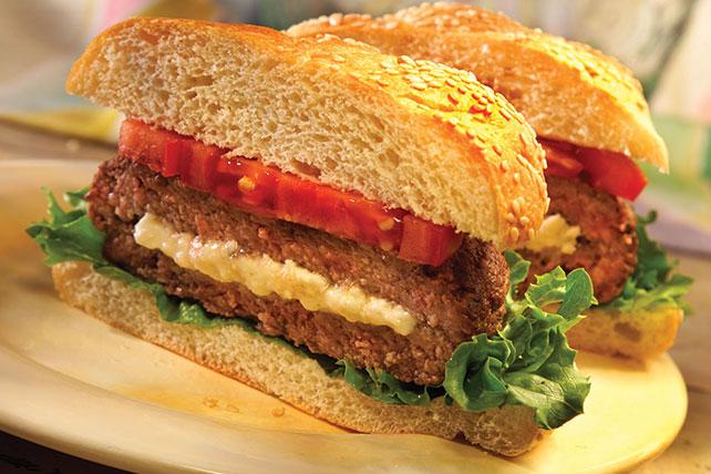 Feta-Stuffed Burgers Image 1