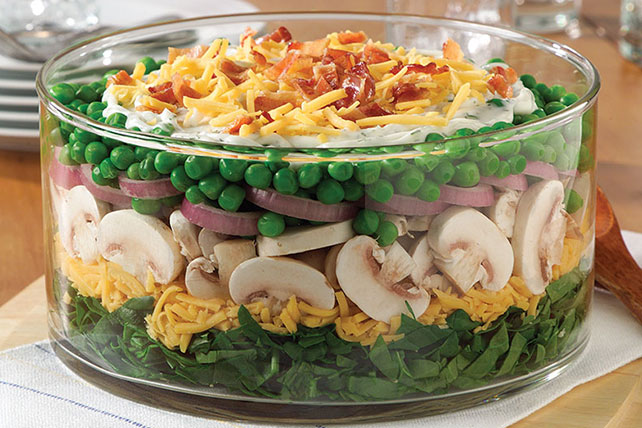 Majestic Layered Spinach Salad
