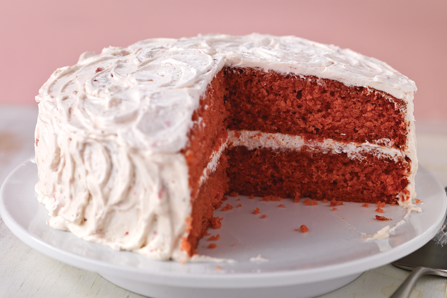 Sweet Strawberry Cake Image 1