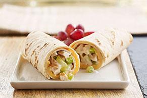 Cheesy Chicken Salad Wraps