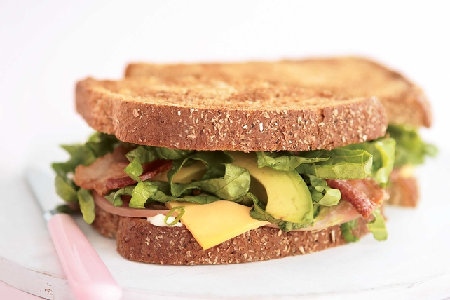 Avocado, Bacon, Ham & Cheese Sandwich Image 1