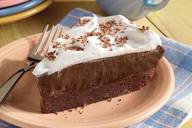 Brownie Bottom Pudding Pie Image 1