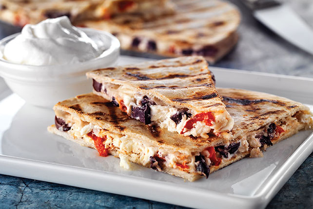 Grilled Mediterranean Quesadillas