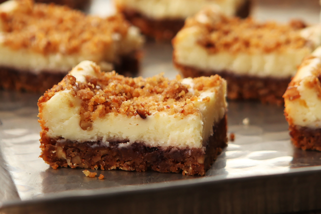 Raspberry-Pecan Cheesecake Bars Image 1