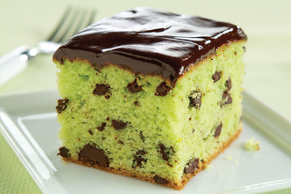 Mint-Chocolate Pudding Cake