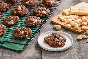 Chocolate Bliss Macadamia Cookies