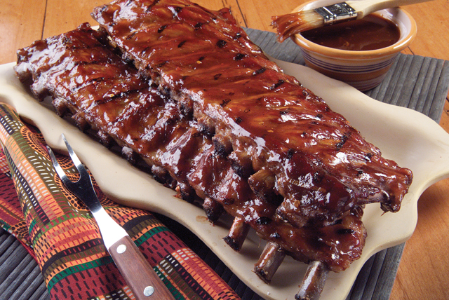 Orange Barbecued Ribs Image 1