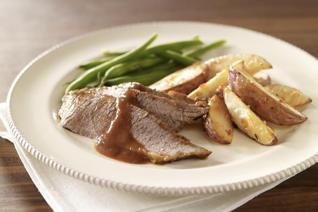 Pointe de poitrine de bœuf braisée, sauce au vin rouge Image 1