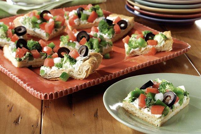 Antojito de pizza con vegetales Image 1