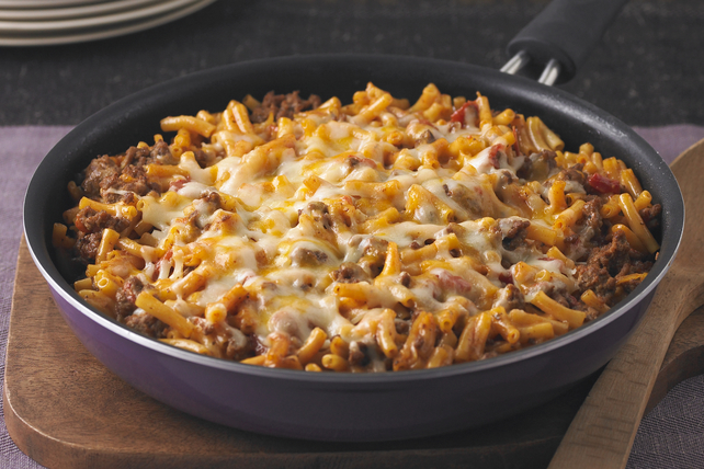 cheesy macaroni beef skillet recipe kraft canada